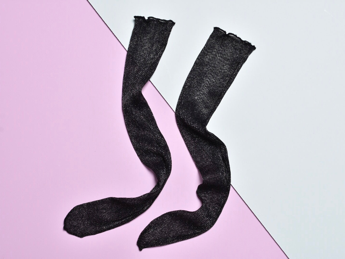 Black glitter socks