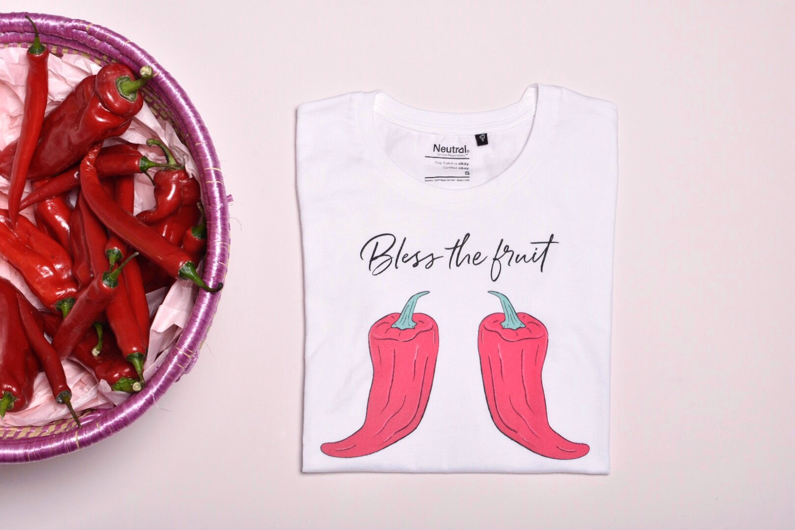 BLESS THE FRUIT TEE w/ CHILI