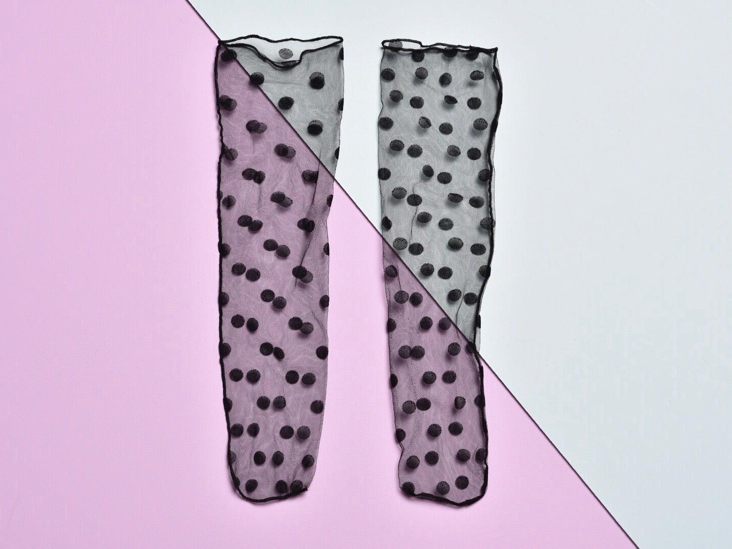 Sheer dotty ankle socks