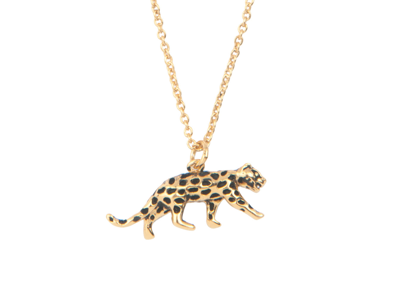 LEOPARD NECKLACE, GOLD