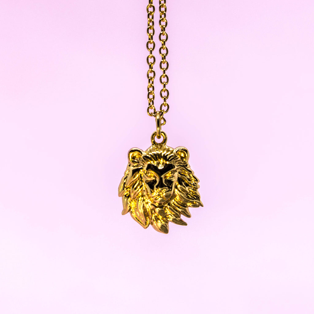 LION NECKLACE, GOLD