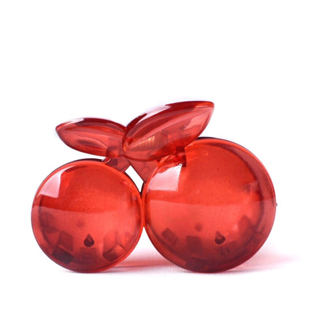 CHERRY HAIR CLIP, RED