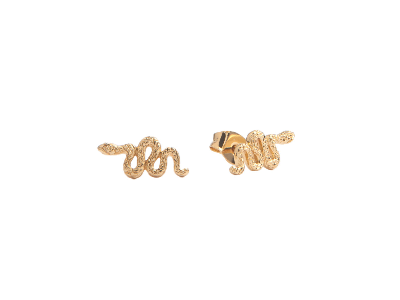 SNAKE EARRINGS, GOLD