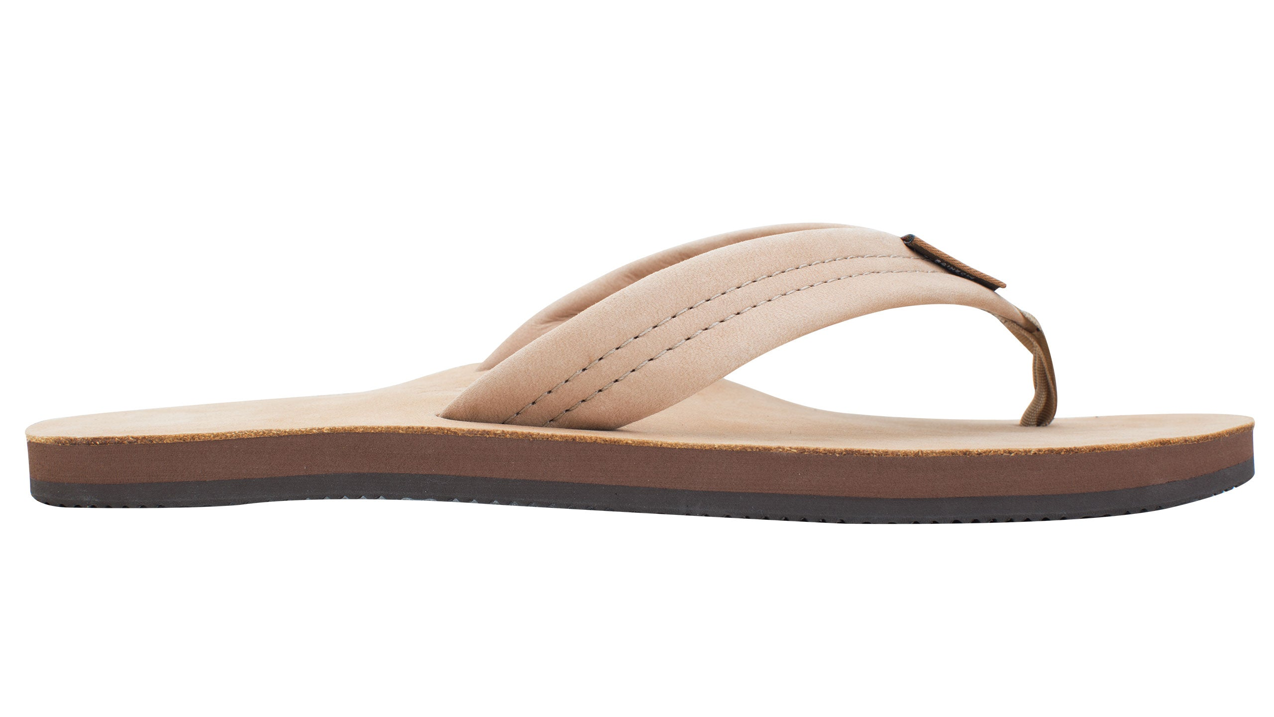 Rainbow Mens Single Layer Premier Leather with Arch Support - Sierra Brown