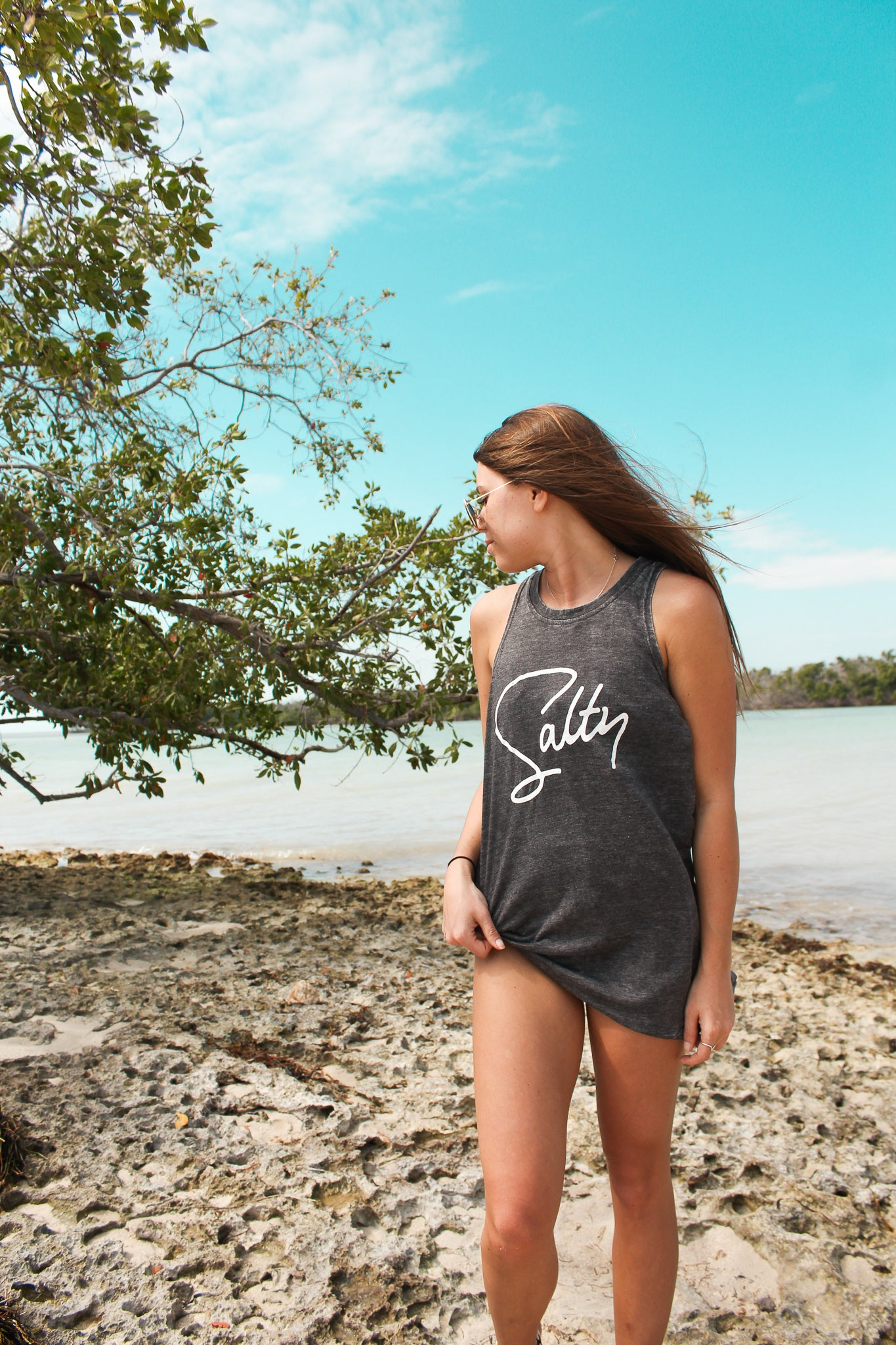 Salty High Neck Muscle Tank