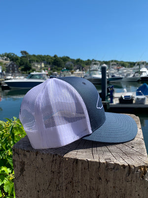 Shark Outline Structured Adjustable Hat