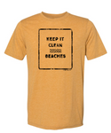 Keep It Clean Beaches Vintage Mens T