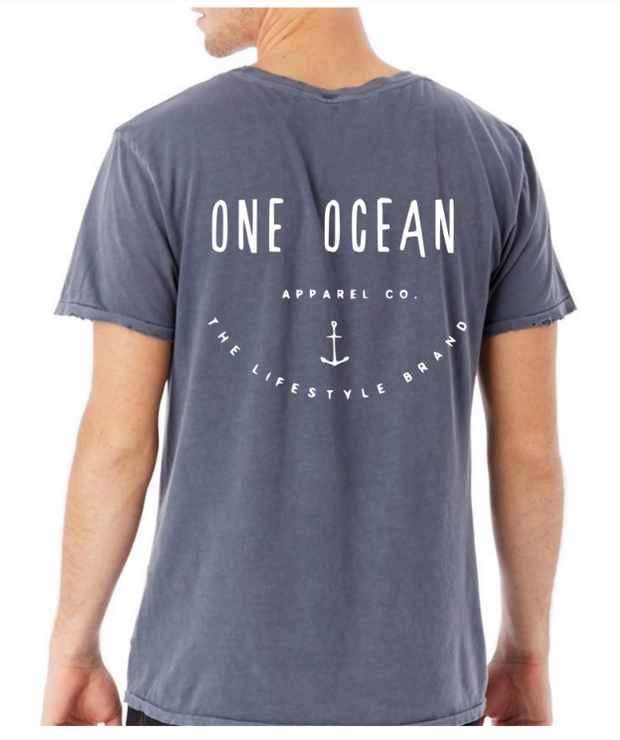 One Ocean Apparel Co Anchor Distressed T