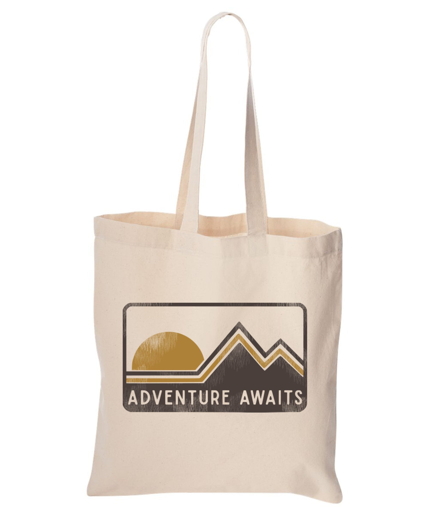 Adventure Awaits Cotton Canvas Tote