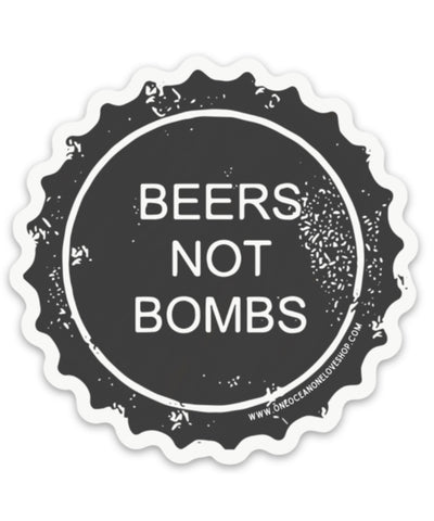 Beers Not Bombs Bumper Sticker