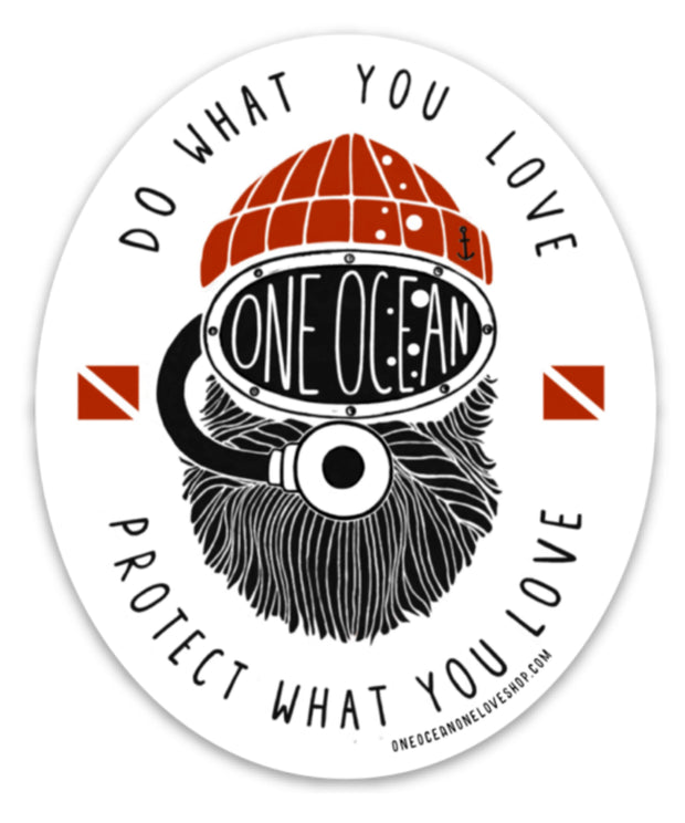 One Ocean Diver Bumper Sticker