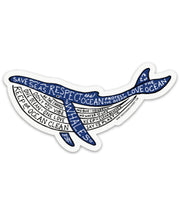 Eco Whale Sticker