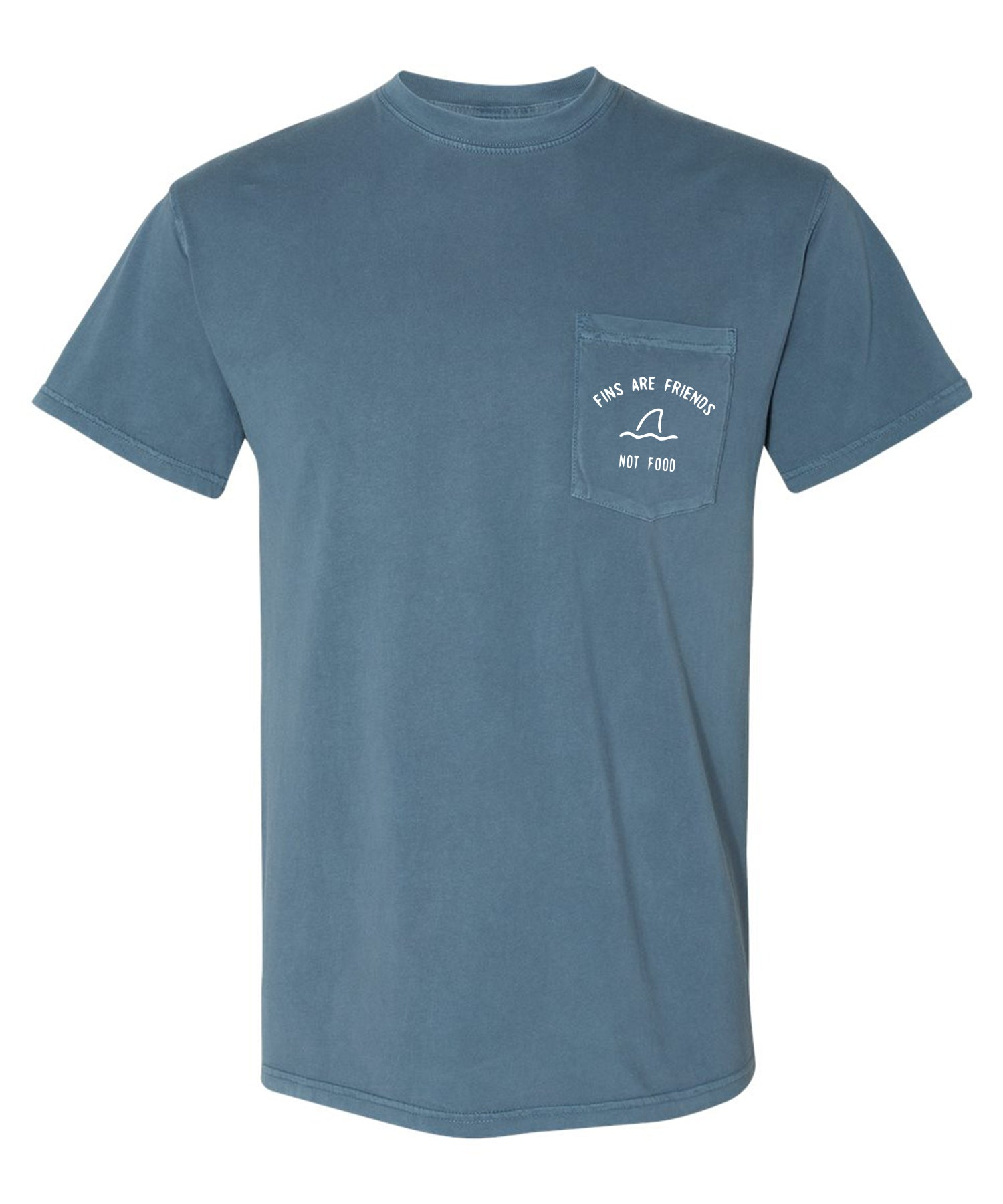 Fins Are Friends Mens T - Blue