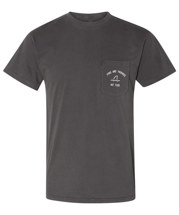 Fins Are Friends Mens T - Grey