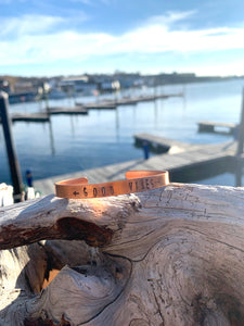 Good Vibes Copper Cuff Bracelet
