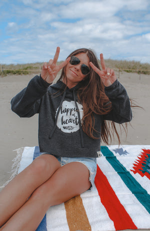 Hippie At Heart Cropped Hoodie