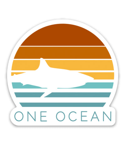 One Ocean Shark Bumper Sticker