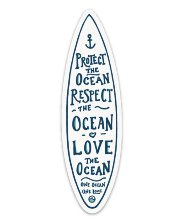 One Ocean Surfboard Sticker