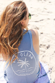 One Ocean Palm Tree Muscle Tank