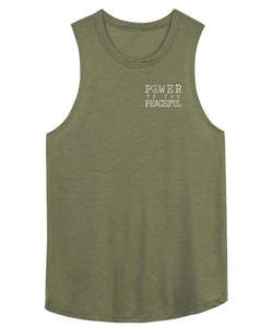 Power To The Peaceful Muscle Tank