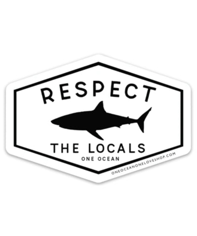 Respect The Locals Diamond Bumper Sticker