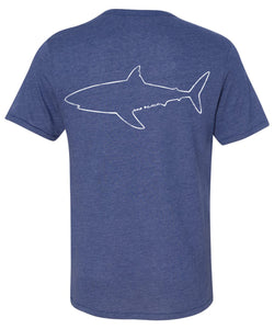 One Ocean Shark Outline T