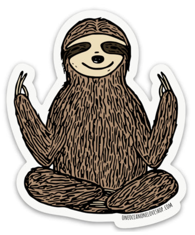 Zen Sloth Bumper Sticker