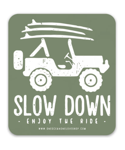 Slow Down Jeep Sticker