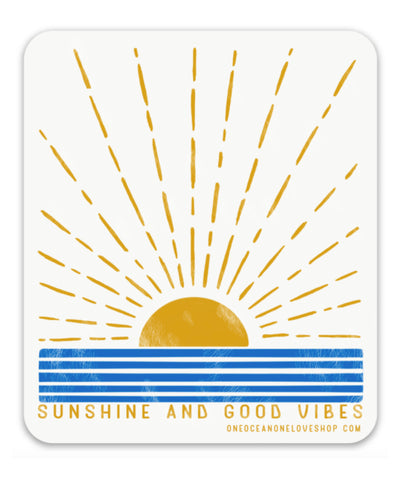 Sunshine and Good Vibes Sticker