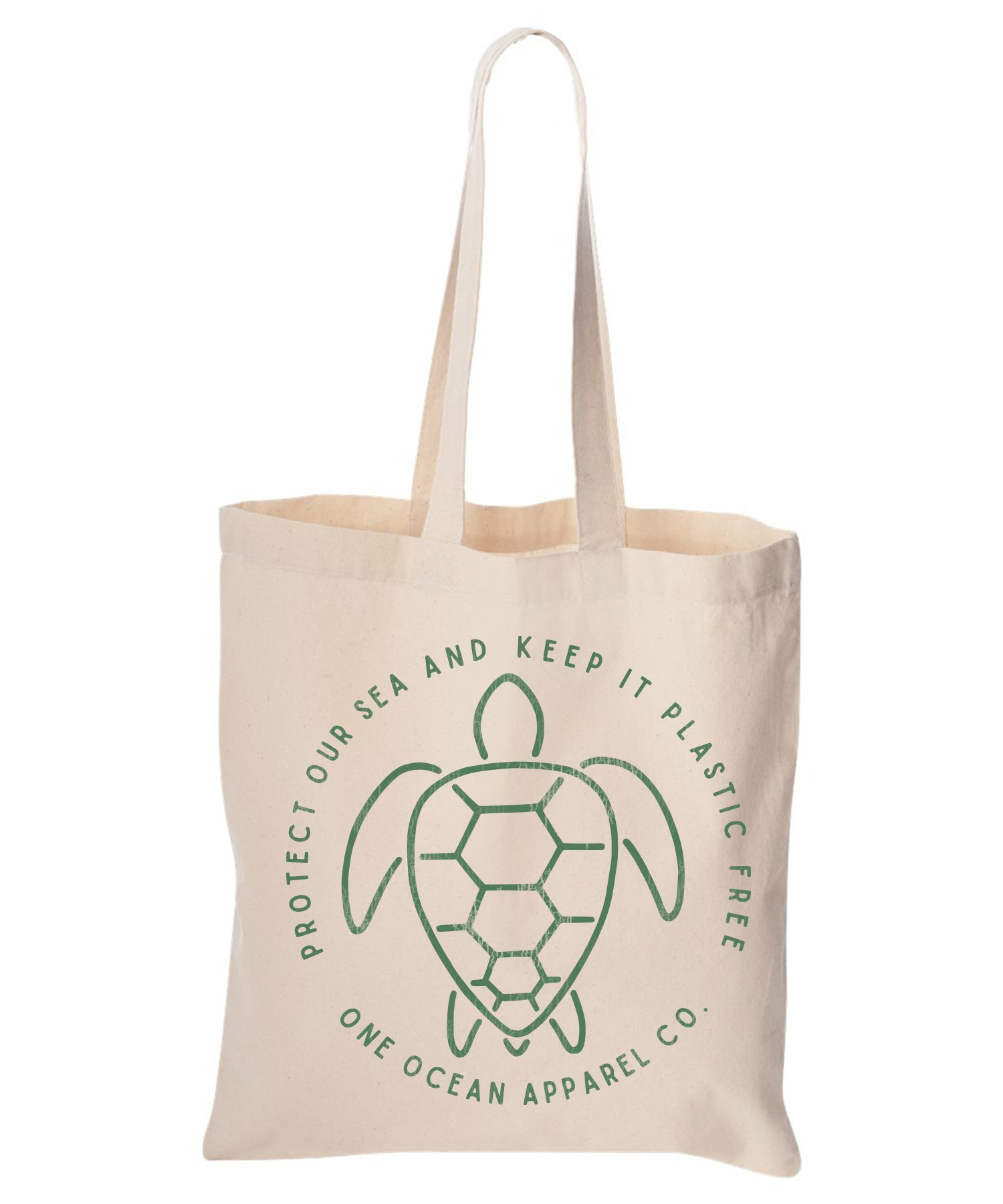 Protect Our Seas, Turtle Cotton Canvas Reusable Tote