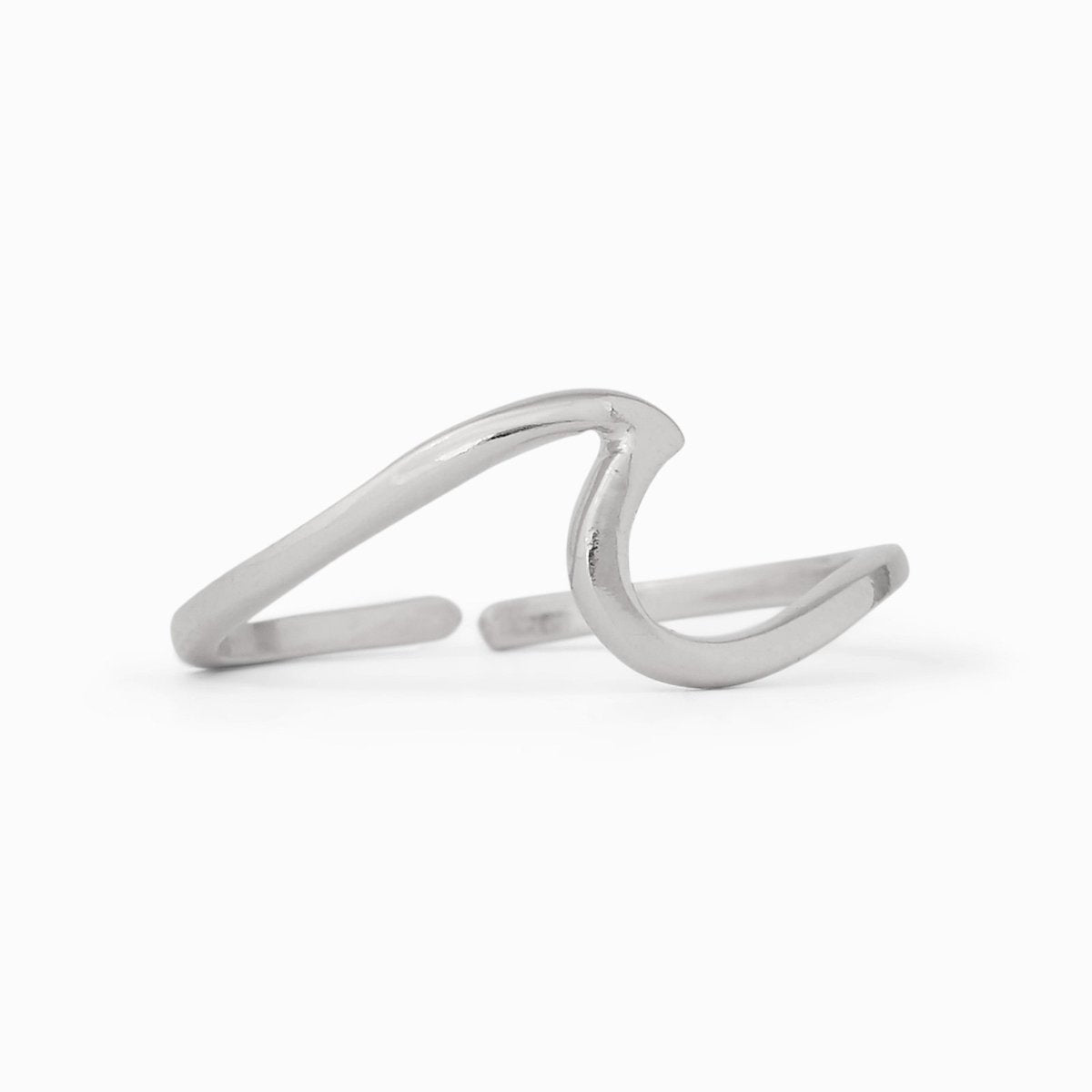 Pura Vida Silver Wave Toe Ring