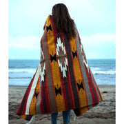 One Ocean Wool Mexican Blanket Orange/Red