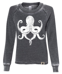Zen Octopus Lazy Day Sweatshirt - Washed Black