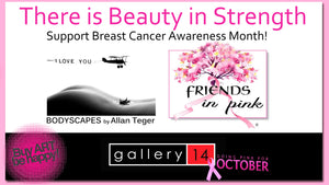 Gallery 14 Bodyscapes photography by Allan Teger to benefit 'Friends in Pink'