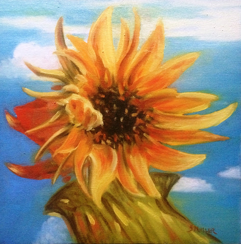 Sunflower Blue Sky by  Susan Miiller