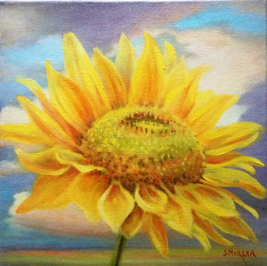 Transcendent Sunflower by Susan Miiller