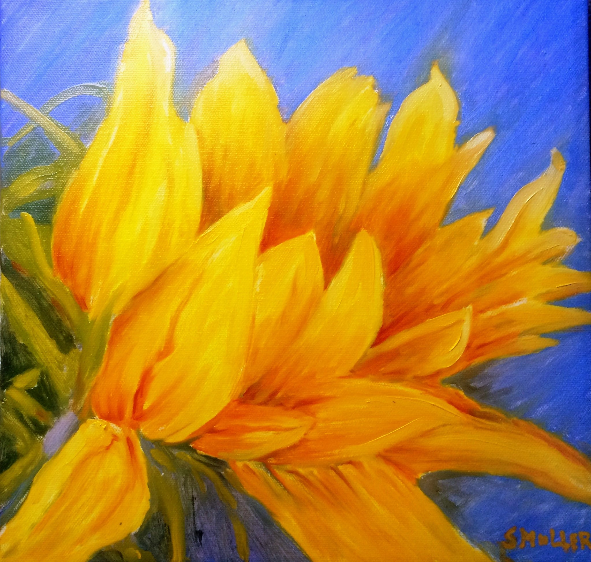 Folded Sunflower by Susan Miller