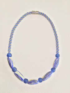 Blue Kumihimo Necklace