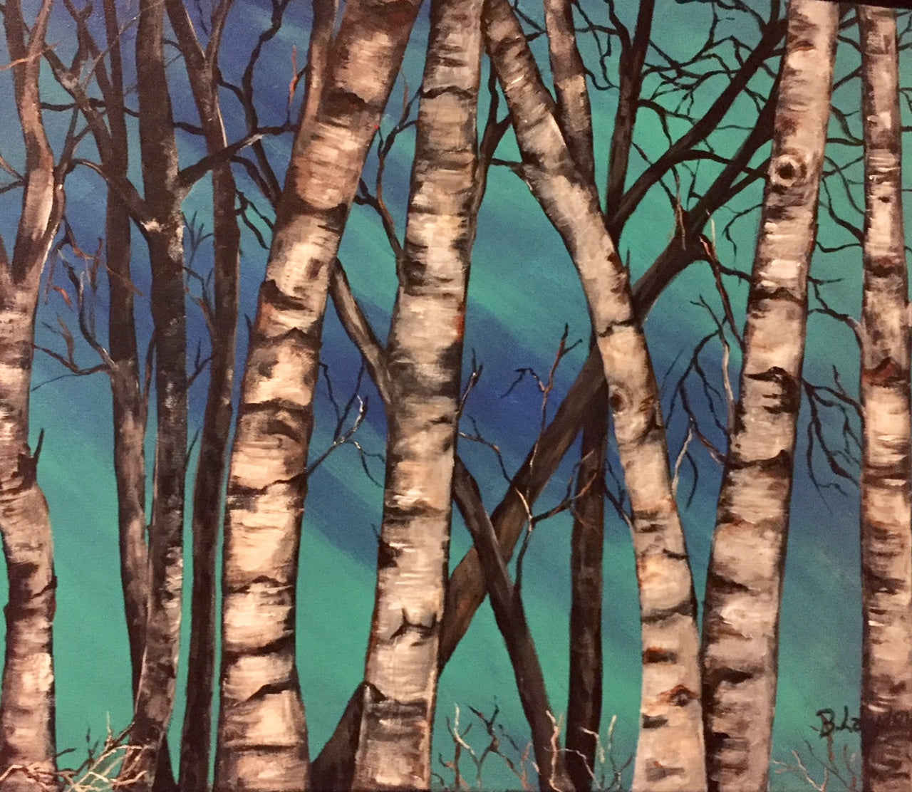 Surreal Birches
