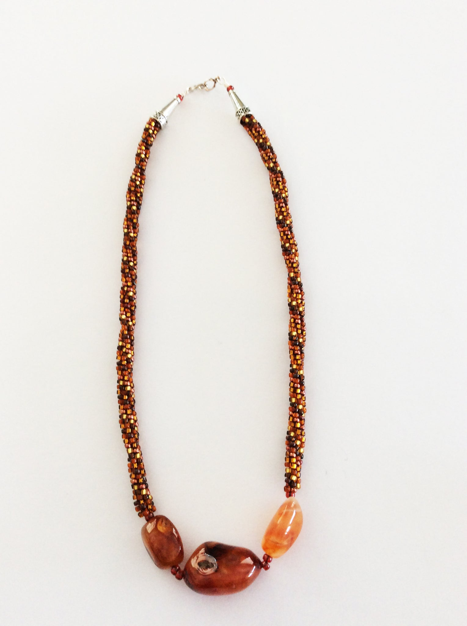 Kumihimo Necklace (Earthtone)