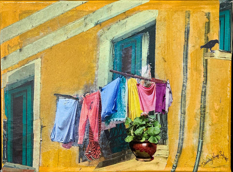 SOLD - Laundry on the Balcony