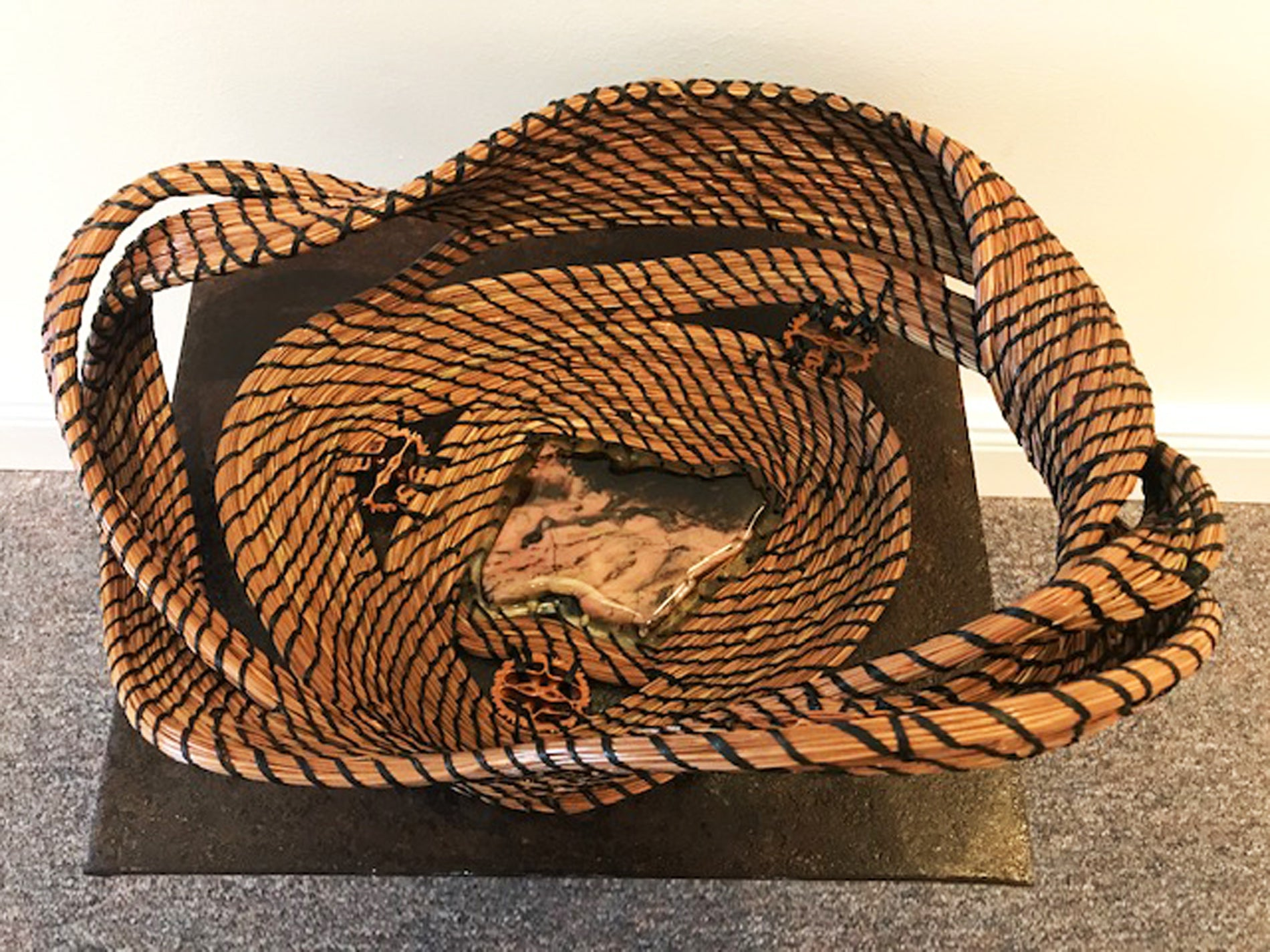 SOLD - Striped Pine Needle Sculpture