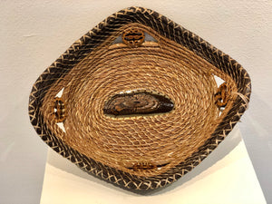 Butterfly Wood Basket