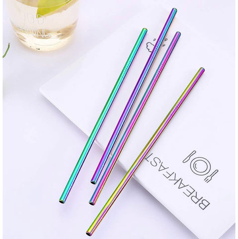 Metal rainbow straws