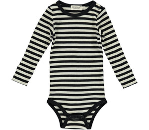 Long Sleeved Striped Romper