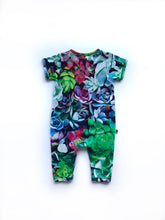 Succulent Printed Zip-up Bodysuit