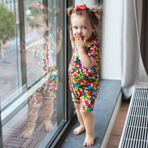 Jelly Bean Printed Zip-up Body Suit