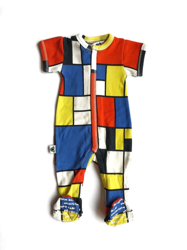 Mondrian Zip-Up Bodysuit
