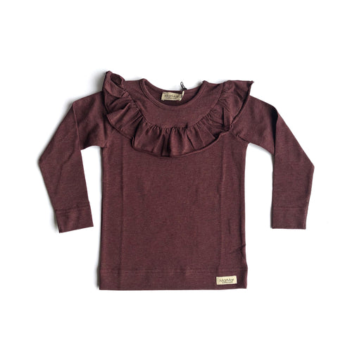 Long Sleeve Tessie in Dark Plum