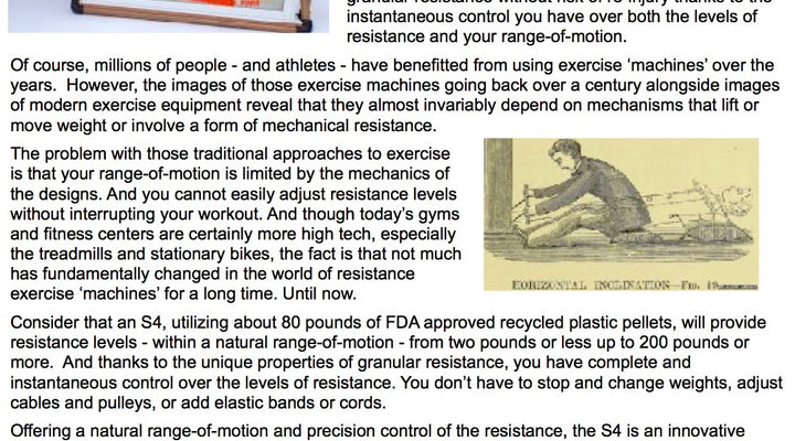 The S4 - A Revolution in Exercise
